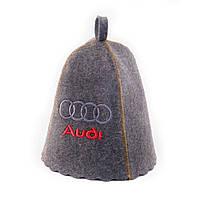 """Банная шапка Luxyart """"Audi"""", натуральный войлок, серый (LA-248)"""