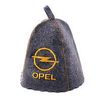 """Банная шапка Luxyart """"Opel"""", натуральный войлок, серый (LA-255)"""