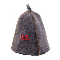 "Банная шапка Luxyart ""Kawasaki"", натуральный войлок, серый (LA-251)"