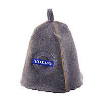 "Банная шапка Luxyart ""Volvo"", натуральный войлок, серый (LA-257)"