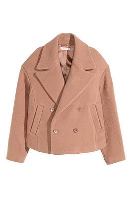 Пальто H&M Short Wool-blend Jacket