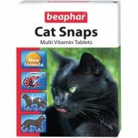 Beaphar Cat Snaps витаминное лакомство с креветками для кошек 75таб