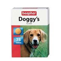 BEAPHAR Doggy's + Liver витаминизированное лакомство для собак, со вкусом печени, 75т