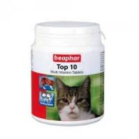 BEAPHAR Top 10 For Cats пищевая добавка для кошек, с таурином, 180т