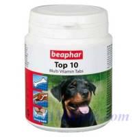 BEAPHAR Top 10 For Dogs пищевая добавка с L-карнитином для собак, 180 т