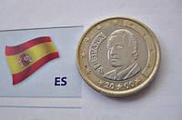 ИСПАНИЯ монета 1 евро 2000 года, фото 1