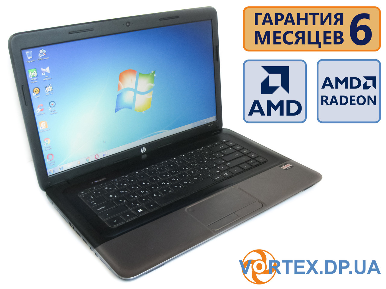 Ноутбук HP 655 15.6 (1366x768) / AMD E1-1200 (2x1,4Ghz) / RAM 3Gb / HD