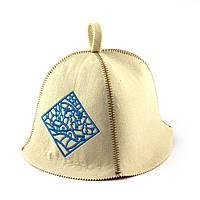 """Банная шапка Luxyart """"Деревня в снегу"""", искусственный фетр, белый (LA-383)"""