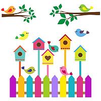 Наклейка Детская Nesting Box Скворечник Винил 120х120 см