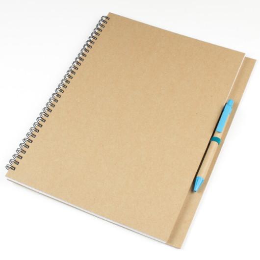 Блокнот А4 MEGAVERA на пружине с ручкой