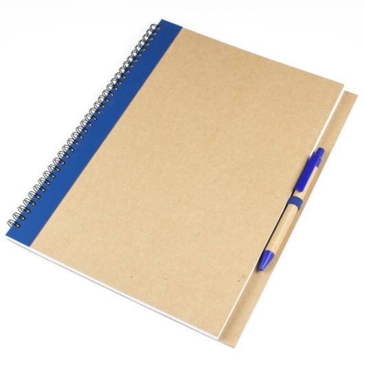Блокнот А4 MEGACOLOR с полосой и ручкой