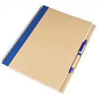Блокнот А4 MEGACOLOR с полосой и ручкой, фото 1