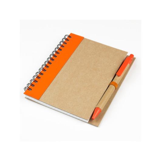 Блокнот А6 PARTYCOLOR с полосой и ручкой