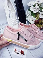 Розовые крутые кеды женские , фото 1