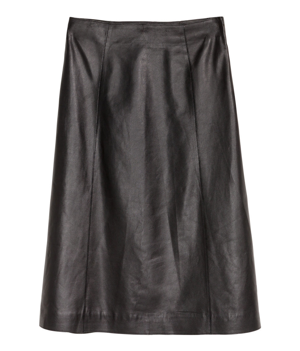 Юбка H&M A-line Leather Skirt EUR 34