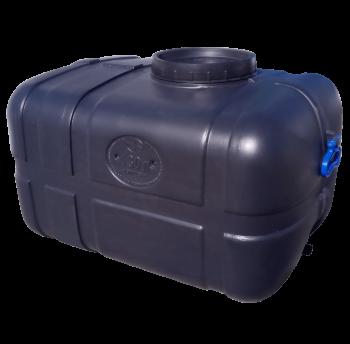 Емкость пластиковая 130 л непищевая прямоугольная (чёрная)