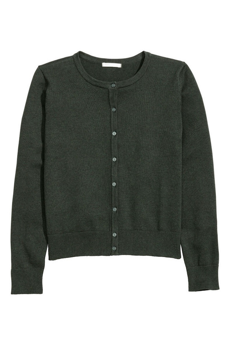 Кофта  H&M Fine-knit Cotton Cardigan