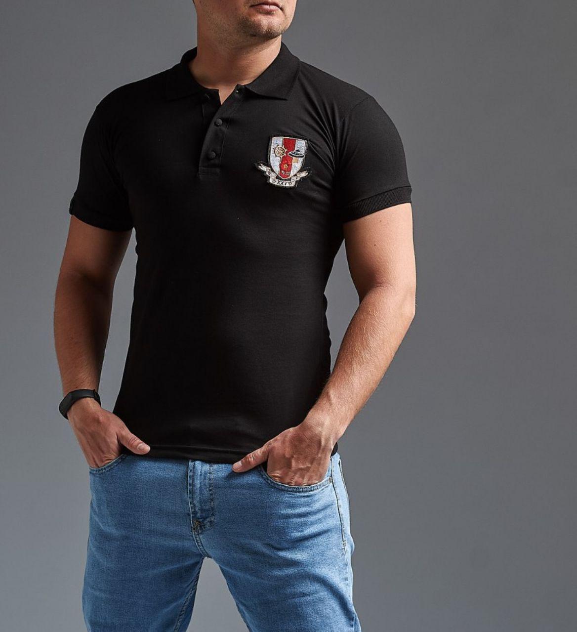 52686fe5118e Футболка поло мужская черная Gucci ( реплика)- купить не дорого в ...