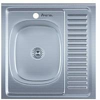 Мойка Накладная 6060-L нержавейка, покрытие décor, глубина 160 mm, Толщина 0.6 mm (MILLANO Imperial)