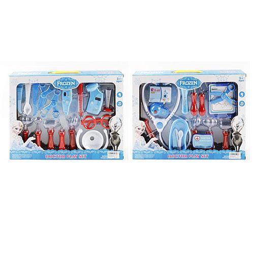 Набір лікаря 4777-05B-06B 16 предметів, 2 види, музичні, світло, на батарейках, в коробці, 40-29-5,5 см.