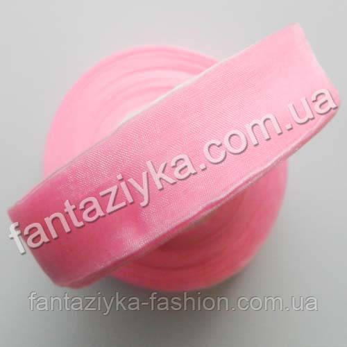 Лента органза 2,5 см, капроновая лента, светло-розовая