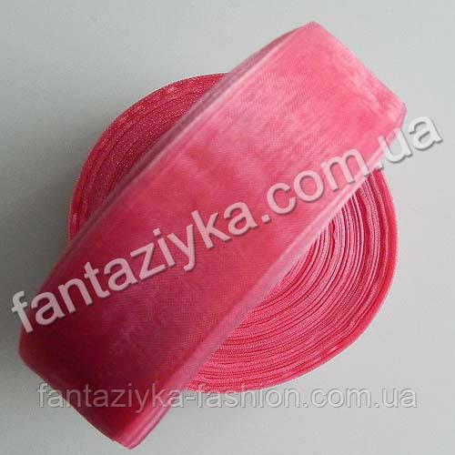 Лента органза 2,5 см, капроновая лента, розовая фуксия