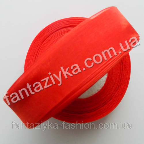 Лента органза 2,5 см, капроновая лента, красная