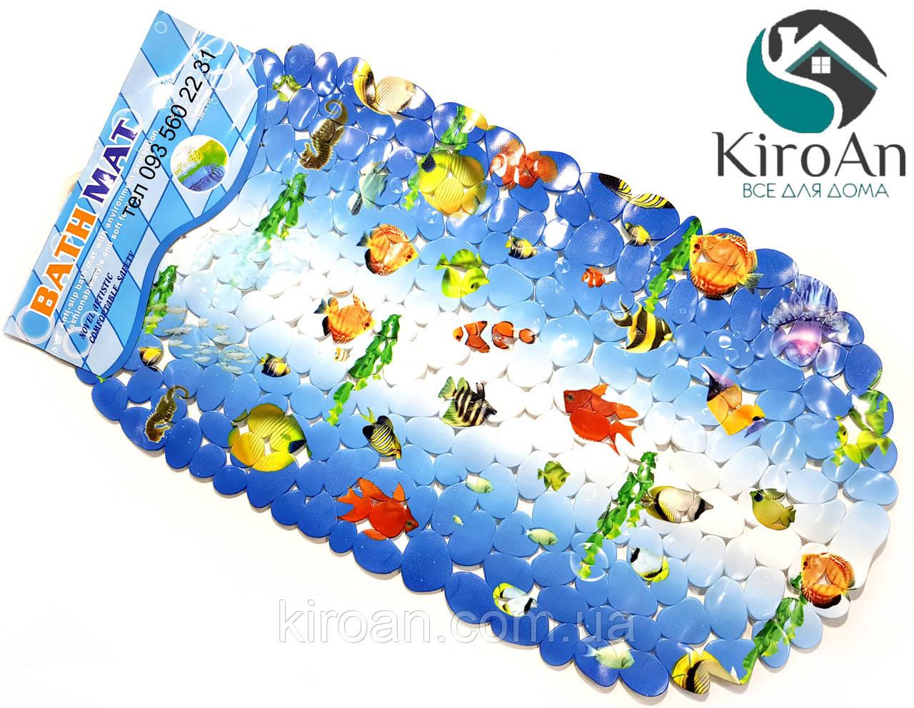 Коврик в ванную на присосках (Морские рыбки) K9580
