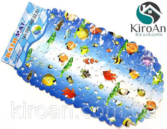 Коврик в ванную на присосках (Морские рыбки) K9580, фото 2