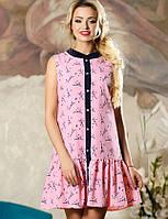 Женское легкое платье без рукавов (2143-2145-2147 svt)