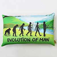 "Тематические подарки (подушки, сувениры, игрушки) Rovita fishing Подушка ""Рыбалка"" Evolution of Man"