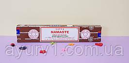 Аромапалички / індійські Пахощі пилові / Namaste, Satya / 15 - 14 шт.