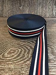 Репсова стрічка смужка 4 см, 50 метрів