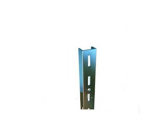 П-подібний профіль з одинарною і перфорацією хромований 2 м, фото 2