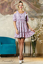 Женское летнее платье с разрезами на плечах (2148-2146-2149 svt), фото 3