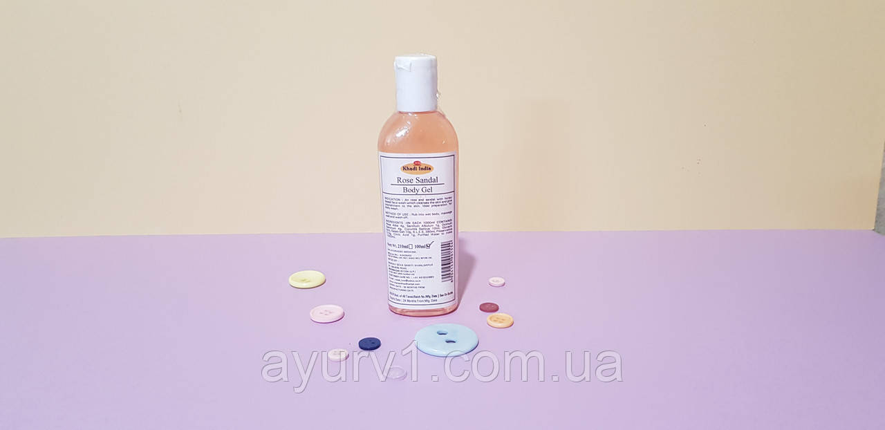 Гель для умывания для сухой кожи / Rose Sandal Body Gel / Khadi / 100 ml