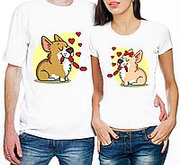 """Парные футболки """"Влюбленные Собачки"""" (частичная, или полная предоплата)"""