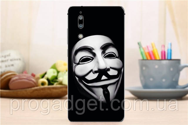 Защитный чехол Sharp AQUOS S2 Protective Case black Маска Гая Фокса