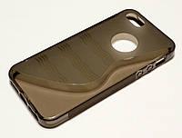 Чехол для iPhone 5 / 5s / SE силиконовый однотонный волна серый