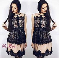 Гипюровое платье с кружевомженское