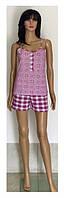 Стильная пижама из майки на кнопках и шорт для кормящих мам 44-50 р