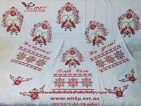Комплект свадебных рушников и 4 салфеток для венчания  «Пташки кохання»