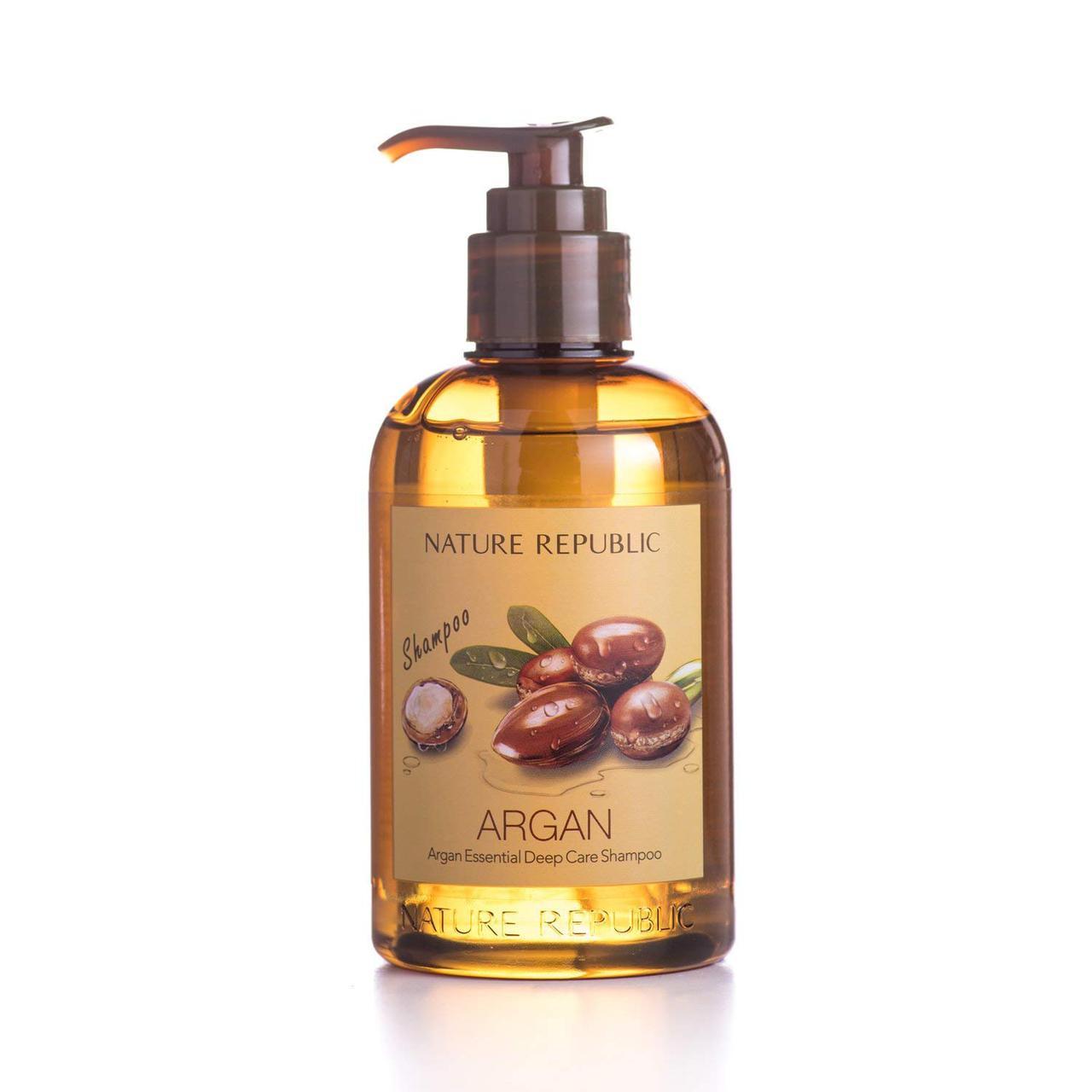 Nature Republic Шампунь с Аргановым маслом Argan Essential Deep Care Shampoo 300ml