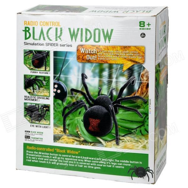 Паук на Радиоуправлении Черная вдова Black Widow