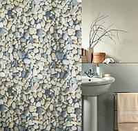 """Штора для ванной и душа """"Текстиль""""180х180 см (Галька)"""