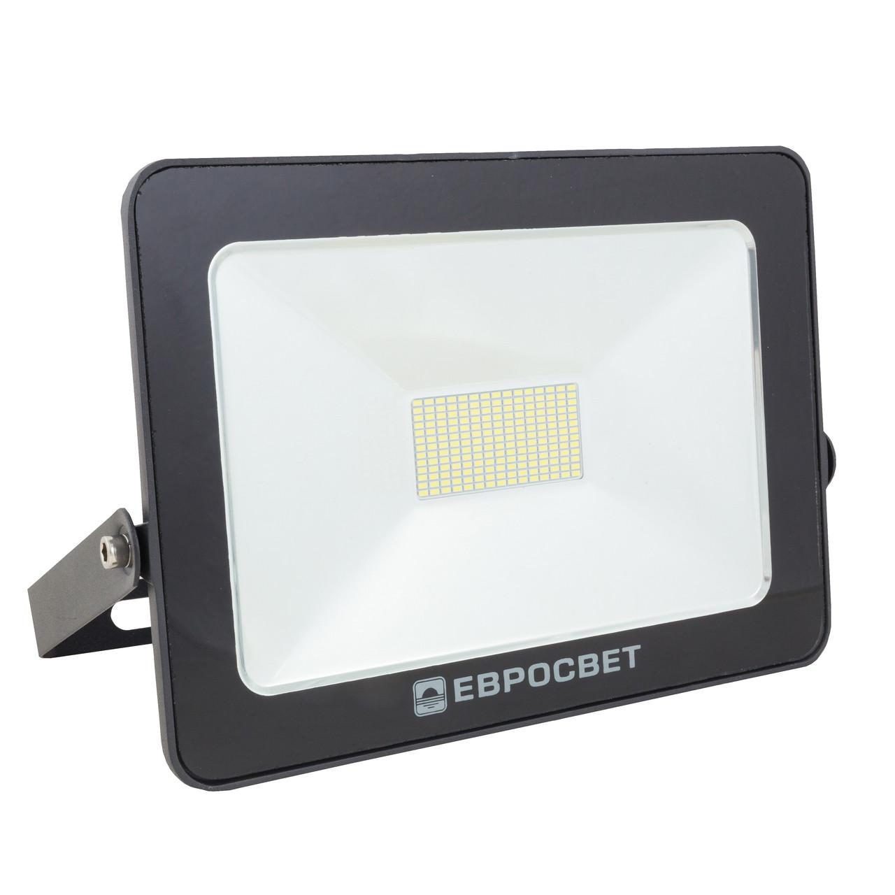 Светодиодный LED прожектор 50 Вт 6400К 4500 Lm Евросвет
