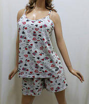 Пижама шорты и майка большого размера от 52 до 58 р-ра, Харьков, фото 2