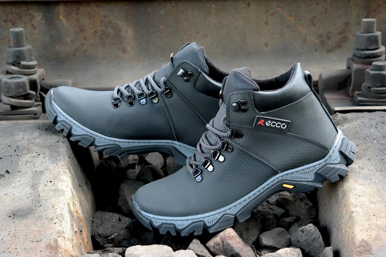 6d69f0c232f78e Мужские зимние ботинки кроссовки Ecco прошиты проклеены, на шерсти Топ  продаж