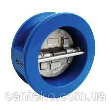 Двостулковий Клапан зворотний міжфланцевий сталевий Ру=16 Ду100