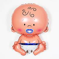 Кулька надувна фігурний, ПУПС ХЛОПЧИК - 65 см